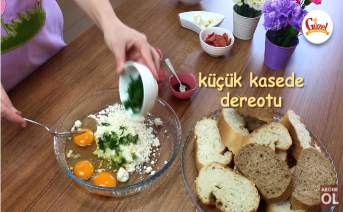 kahvaltılık çıtır ekmek harcımızı hazırlarken