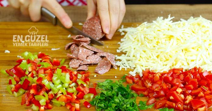 fırında üstü soslu ekmek dilimleri tarifi