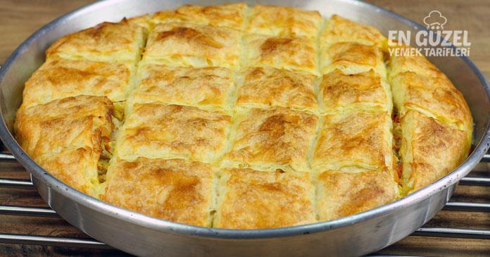 tavuklu soslu tepsi böreği tarifi